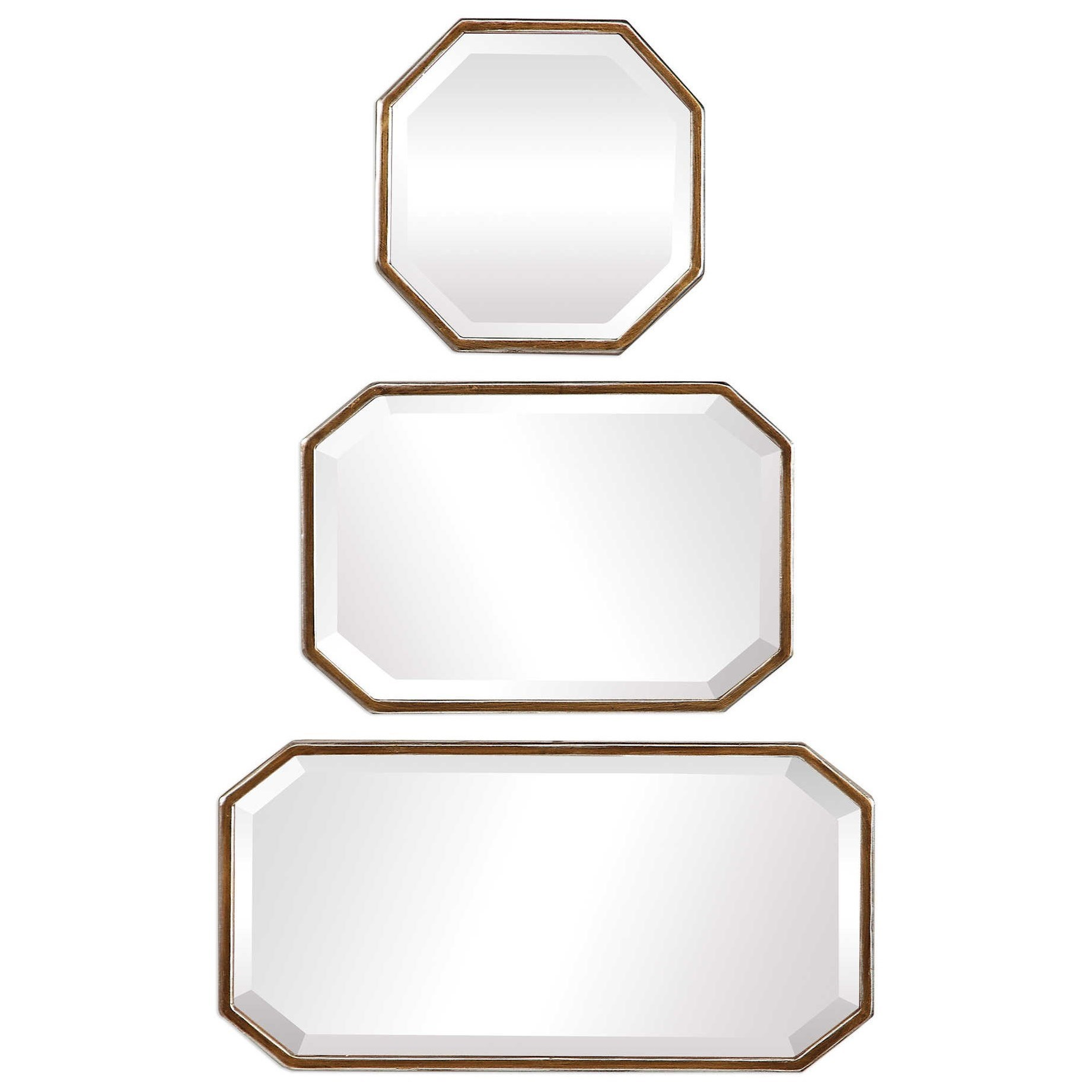 Mirrors Trois Gold Mirrors (Set of 3) by Uttermost at Wayside Furniture