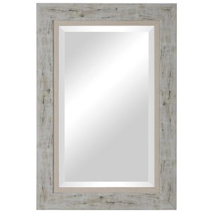 Branbury Rustic Light Wood Mirror