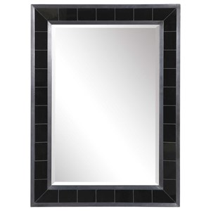 Lonara Black Tile Mirror