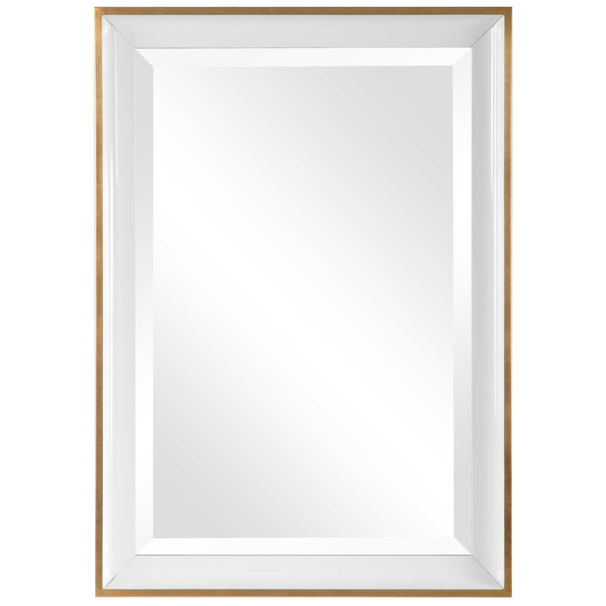 Mirrors Gema White Mirror by Uttermost at Upper Room Home Furnishings