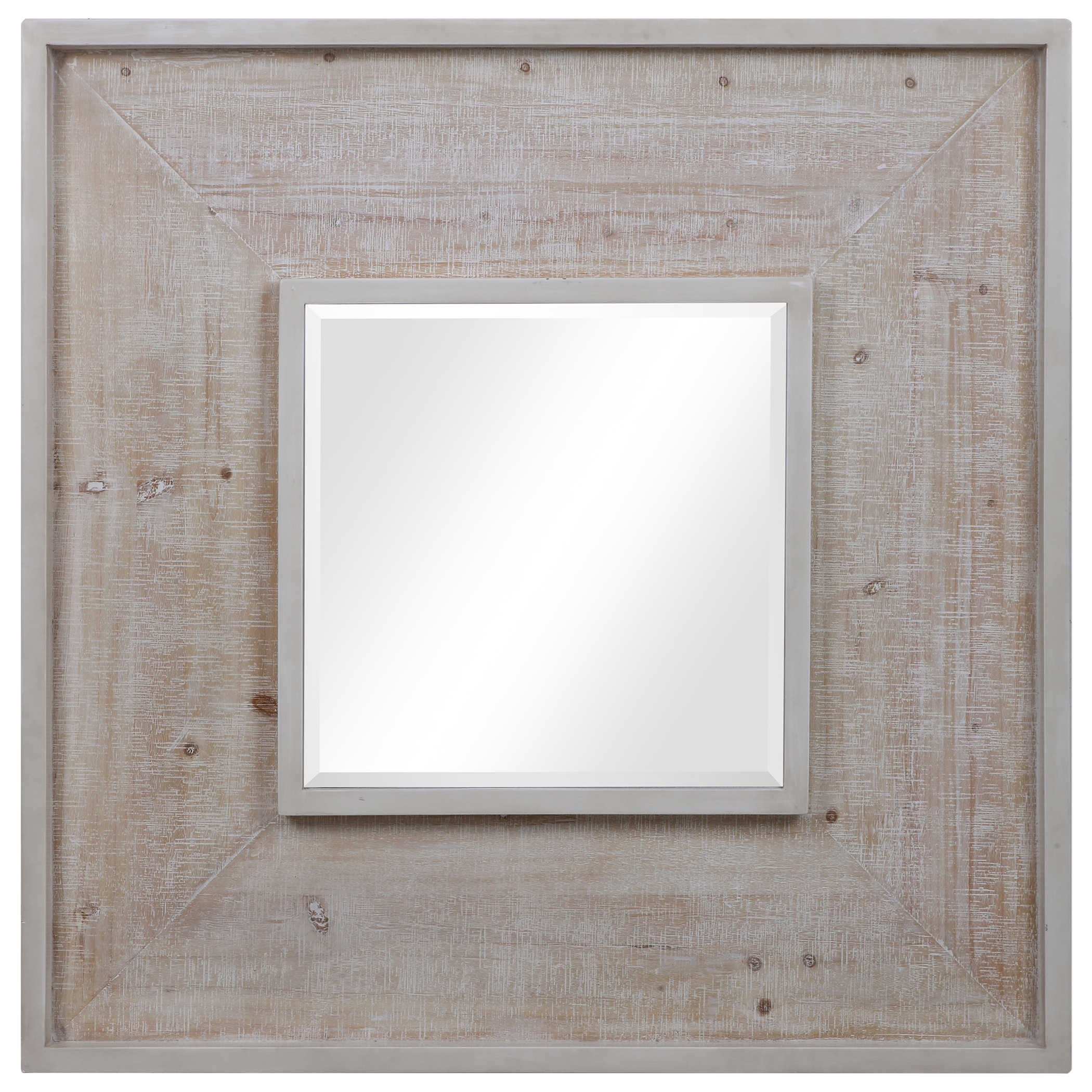 Mirrors Alee Driftwood Square Mirror by Uttermost at Reid's Furniture