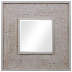 Alee Driftwood Square Mirror