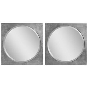 Aletris Modern Square Mirrors, S/2