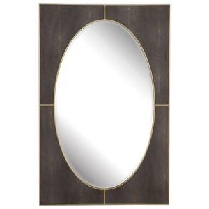 Cyprus Gray Shagreen Mirror