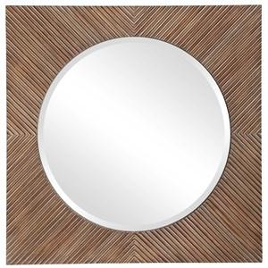 Uma Wooden Square Mirror