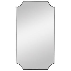 Lennox Black Scalloped Corner Mirror