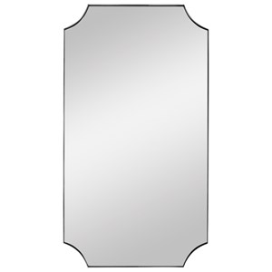 Lennox Nickel Scalloped Corner Mirror