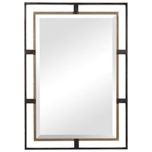 Carrizo Gold & Bronze Rectangle Mirror