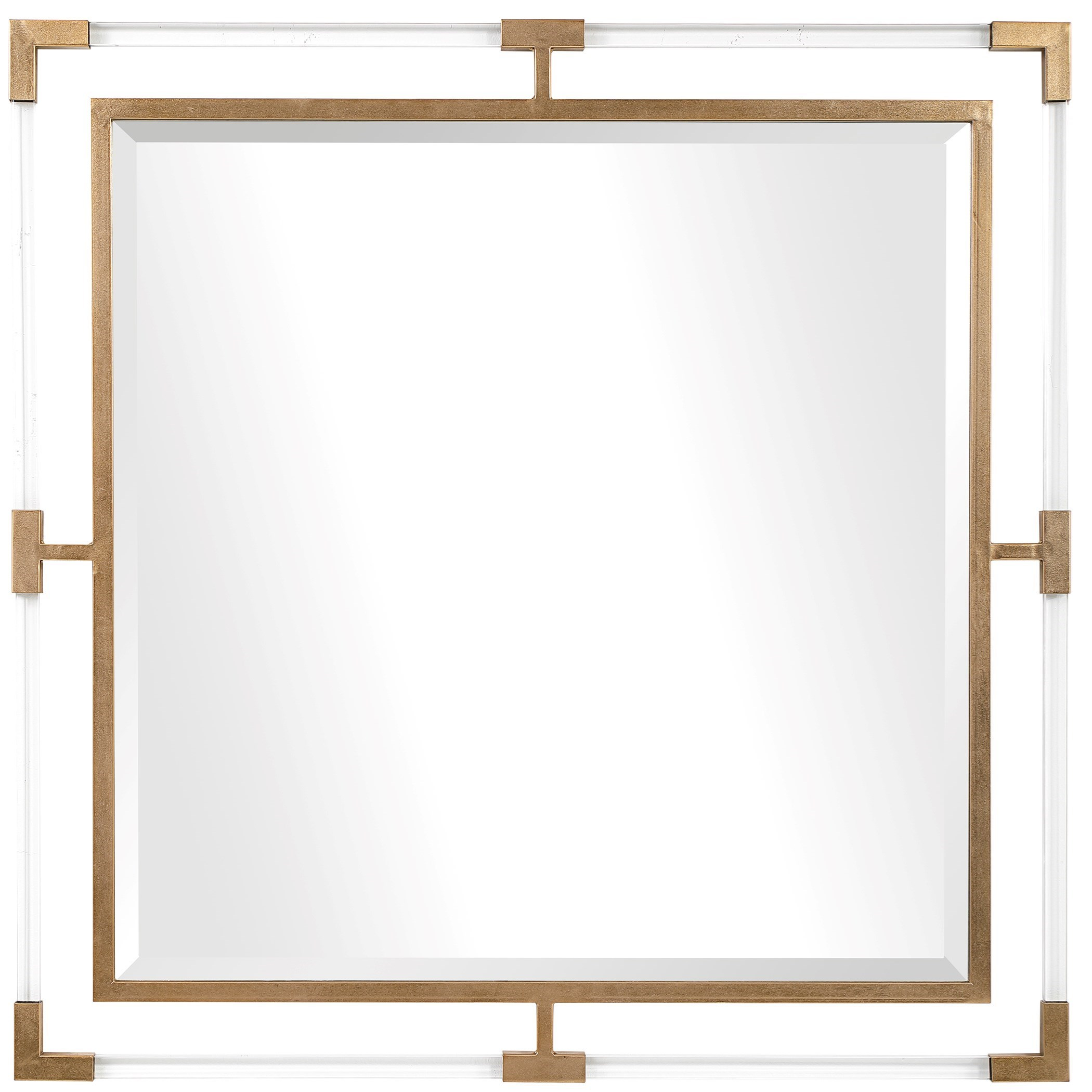 Mirrors Balkan Golden Square Mirror by Uttermost at Miller Waldrop Furniture and Decor