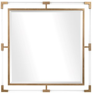 Balkan Golden Square Mirror