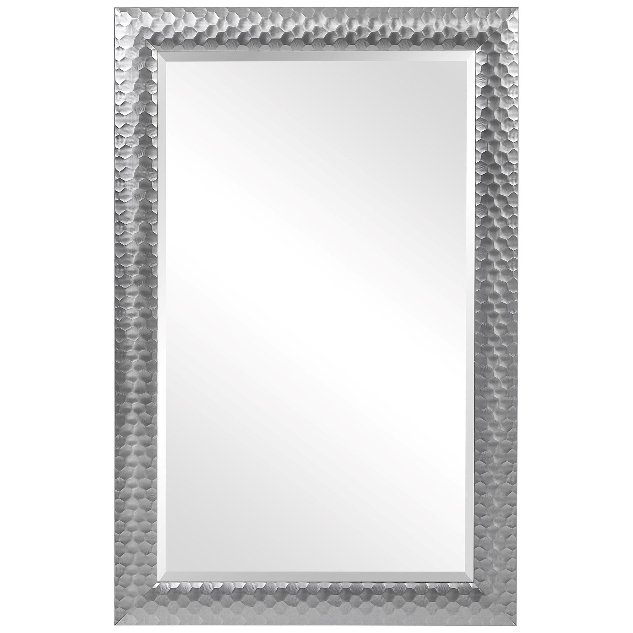 Mirrors Caldera Textured Gray Mirror by Uttermost at Mueller Furniture