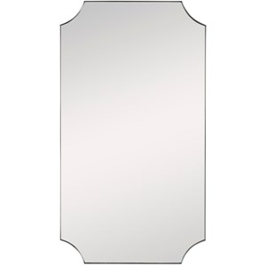 Lennox Brass Scalloped Corner Mirror