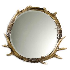 Stag Horn Mirror Round