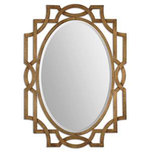 Uttermost Mirrors Margutta Gold Oval Mirror