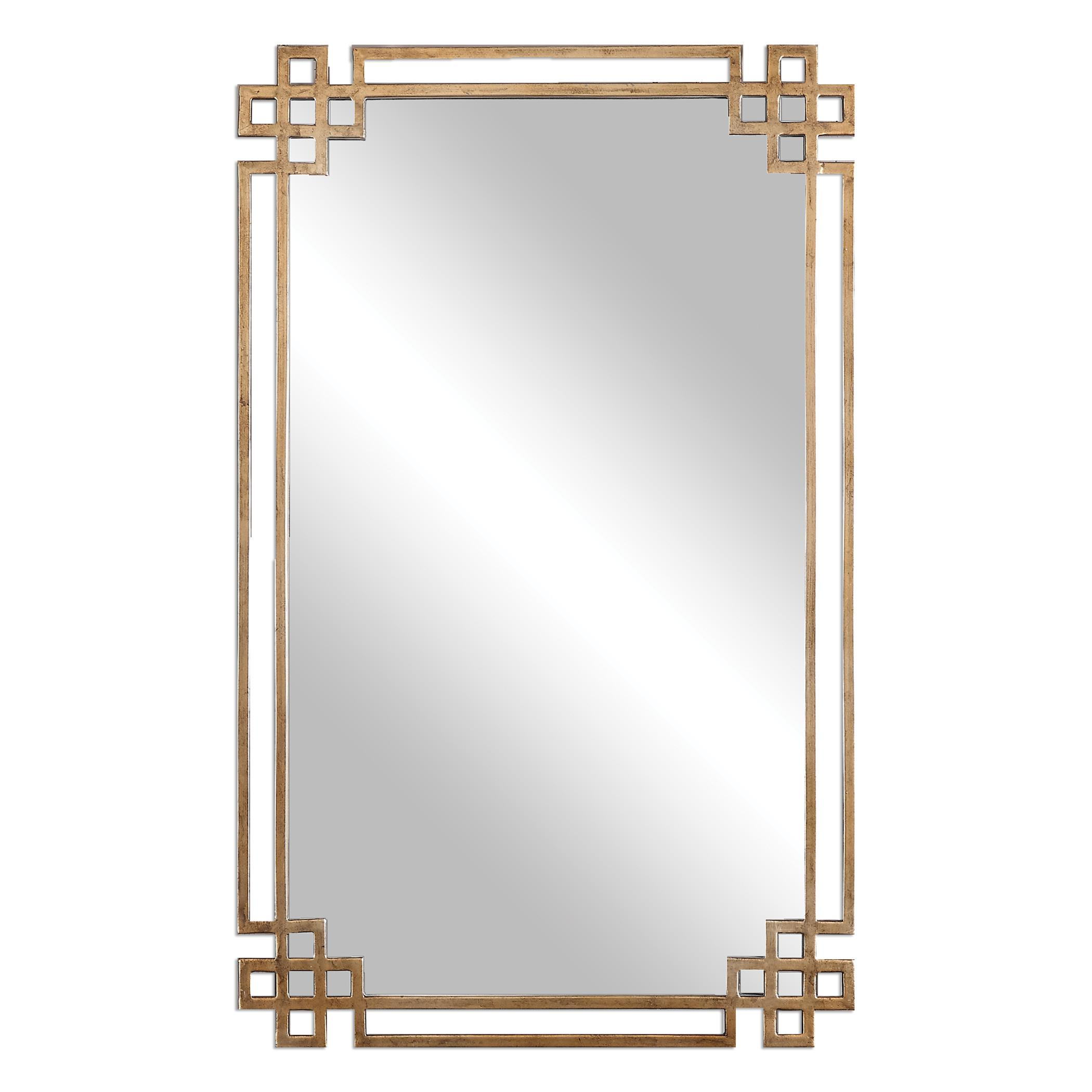 Mirrors Devoll Antique Gold Mirror by Uttermost at Dunk & Bright Furniture