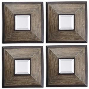 Uttermost Mirrors Fendrel Squares Set of 4