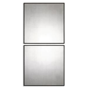 Matty Antiqued Square Mirrors, S/2