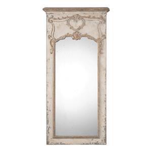 Uttermost Mirrors Carlazzo Antiqued White Mirror