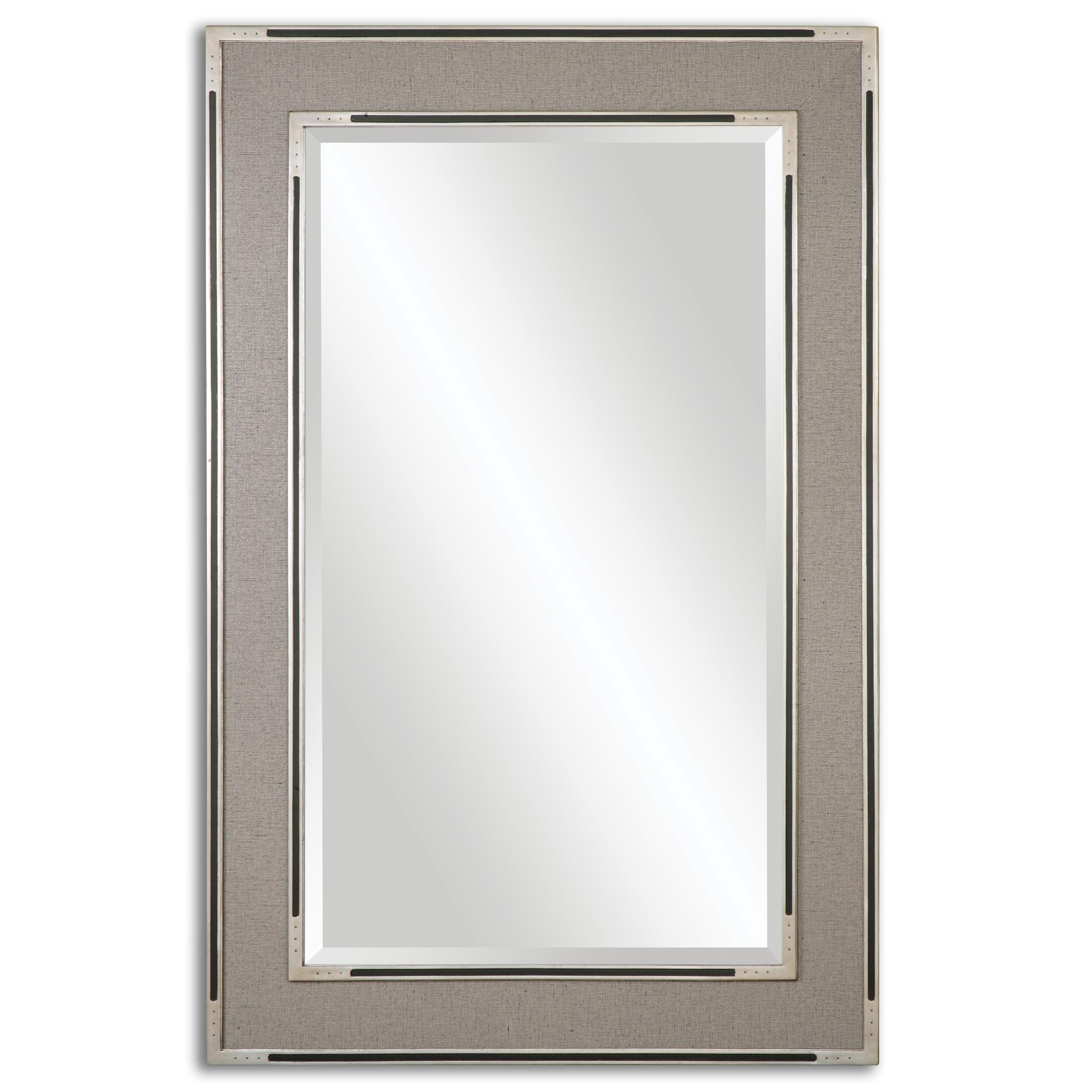 Mirrors Alfred Oversized Gray-Tan Mirror by Uttermost at Wayside Furniture