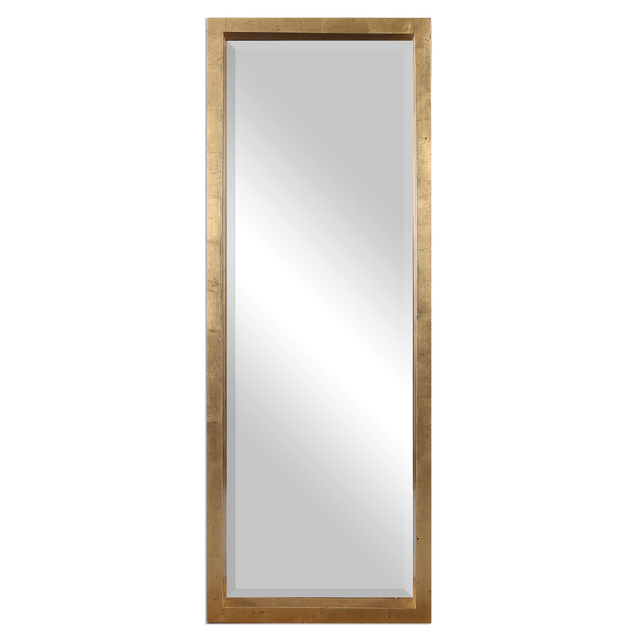 Mirrors Edmonton Gold Leaner Mirror by Uttermost at Dunk & Bright Furniture