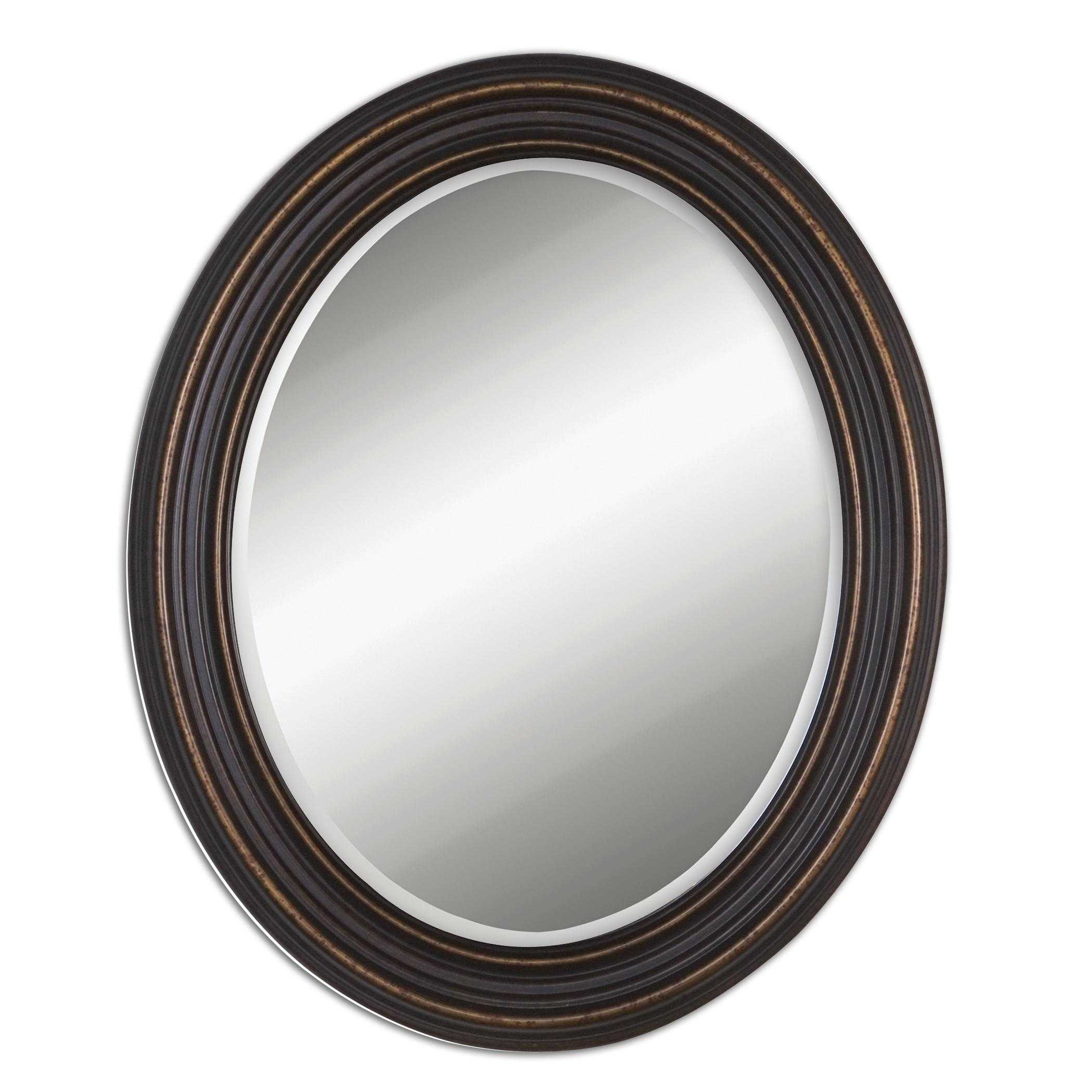 Mirrors - Oval Ovesca Oval Mirror by Uttermost at Mueller Furniture