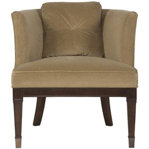 Drake Transitional Chair with Curved Tight Back