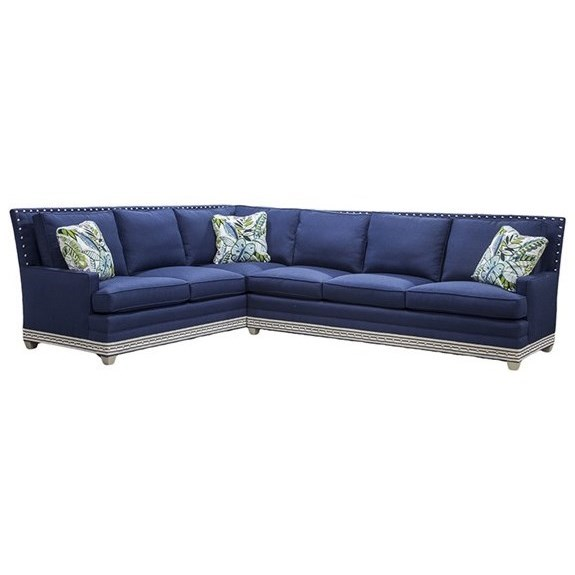 American Bungalow Riverside Sectional Sofa by Vanguard Furniture at Sprintz Furniture