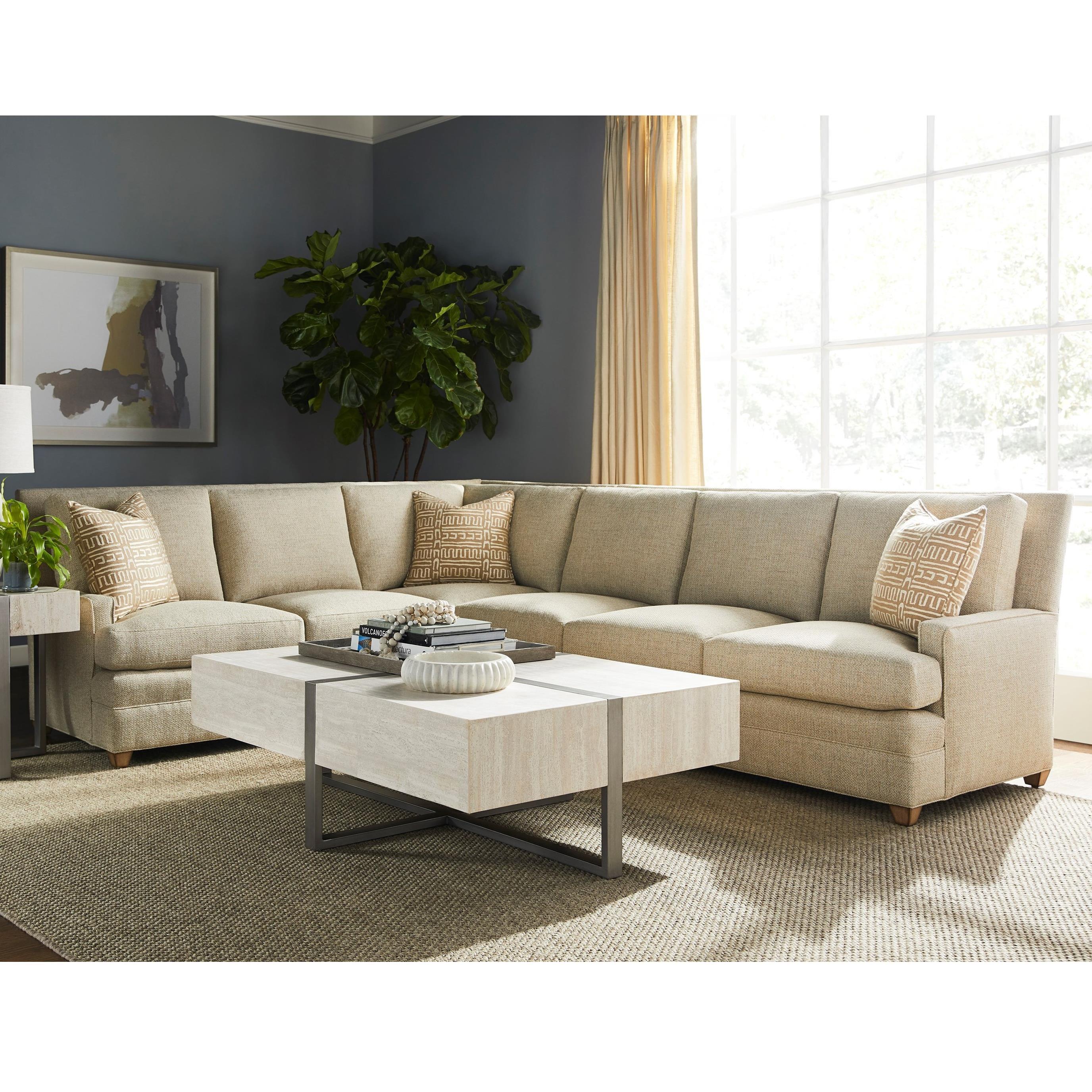 American Bungalow Riverside Sectional Sofa by Vanguard Furniture at Baer's Furniture