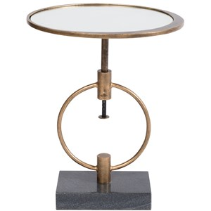Montgomery Adjustable Height Martini Table with Glass Top