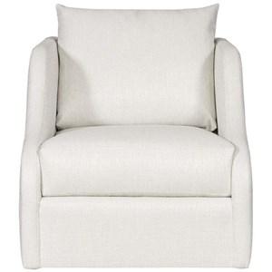 Sloped Arm Swivel Chair