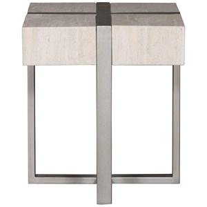 Stone Veneer Side Table