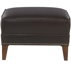 Traditional Ottoman with Tapered Feet