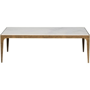 Rectangular Cocktail Table with Marble Top