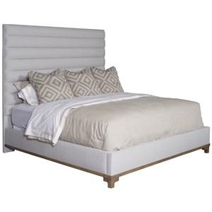 Kelsey King Platform Bed with Chanel Upholstered Headboard