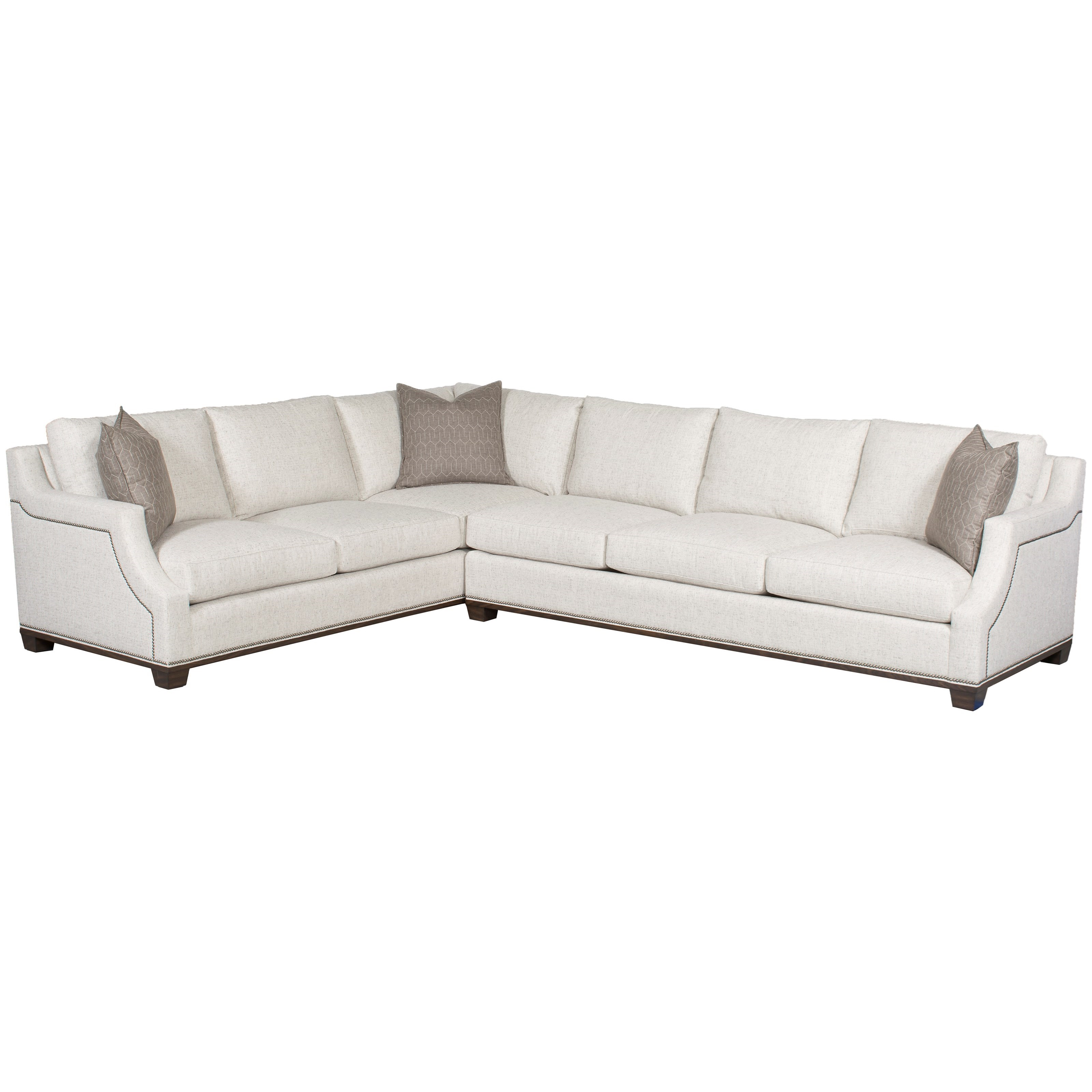 Michael Weiss - Abingdon 2 Pc Customizable Sectional Sofa by Vanguard Furniture at Baer's Furniture
