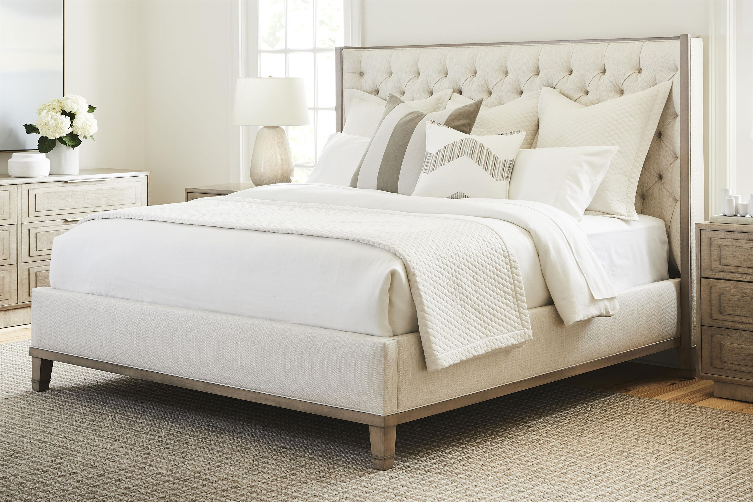 Bowers - Michael Weiss Queen Tufted Headboard Bed by Vanguard Furniture at Baer's Furniture