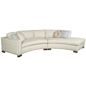 Curved One Arm Bennett Sectional with Chaise