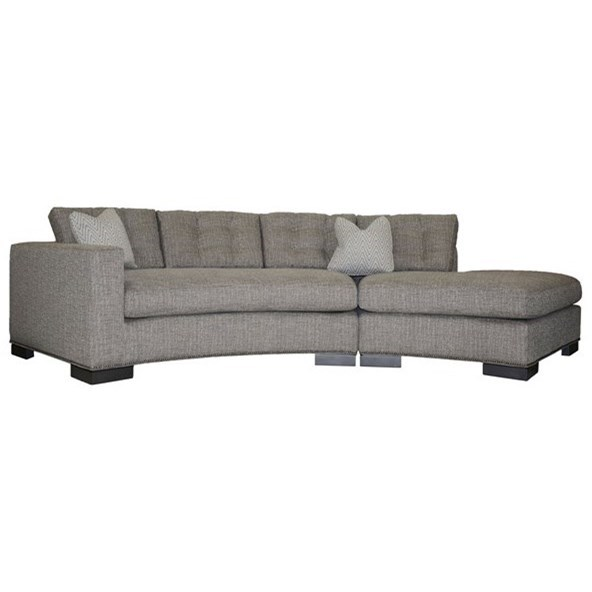 Michael Weiss Transitional Loveseat with Chaise by Vanguard Furniture at Baer's Furniture