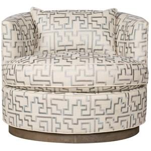 Bernadette Swivel Chair with Wood Base