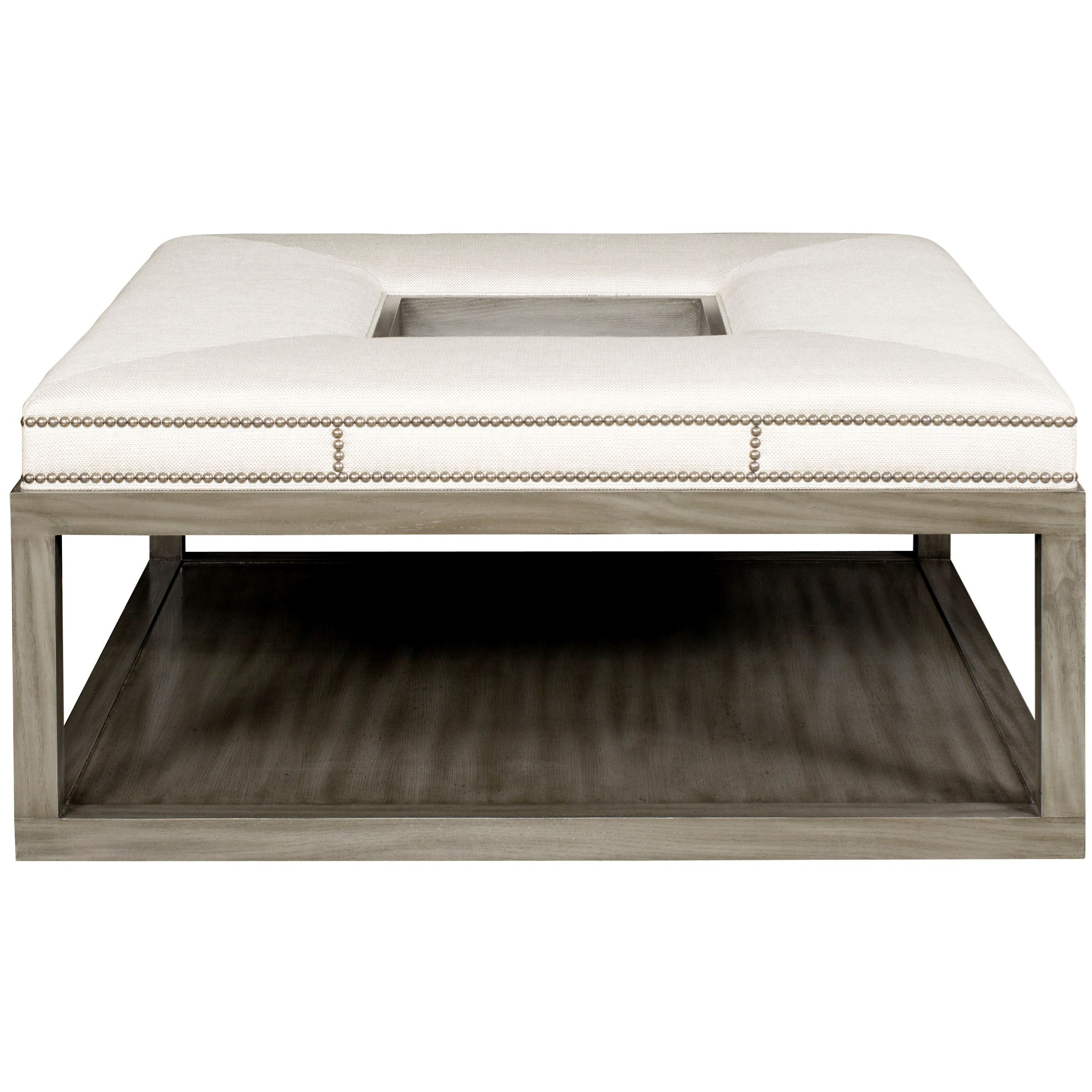 Michael Weiss Wayland Square Wood Ottoman by Vanguard Furniture at Jacksonville Furniture Mart