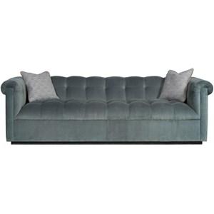 Transitional Tufted Tuxedo Sofa