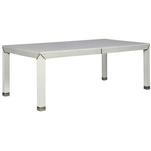 Dining Table with Metal Ferrules