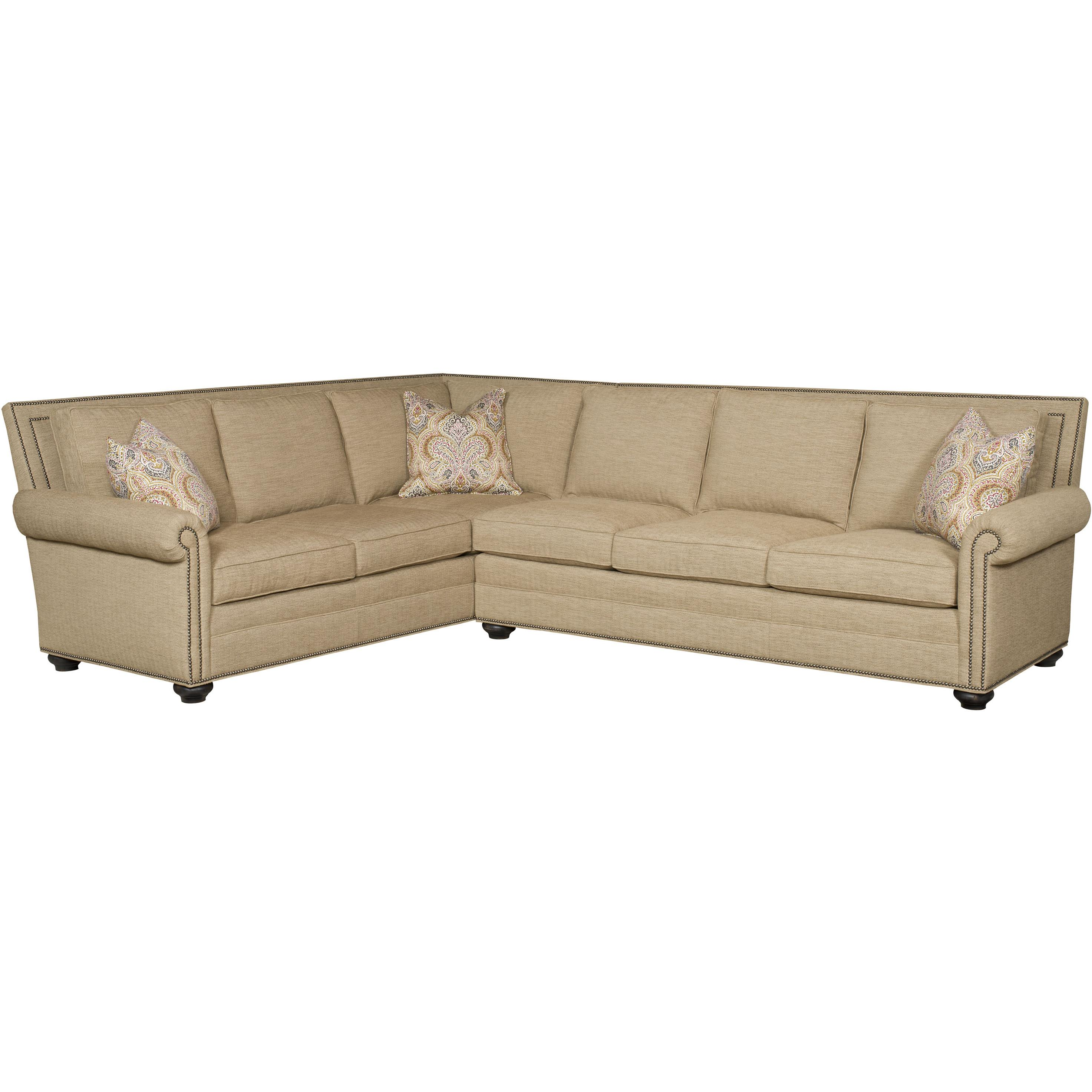 Simpson Traditional Sectional by Vanguard Furniture at Baer's Furniture