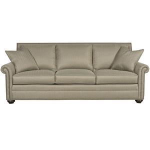Traditional Sofa Sleeper with Nail Head Trim