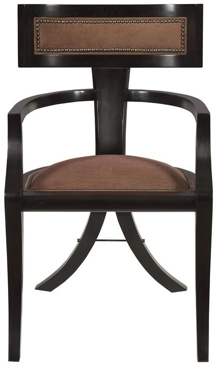 Thom Filicia Home Collection Dining Arm Chair by Vanguard Furniture at Baer's Furniture