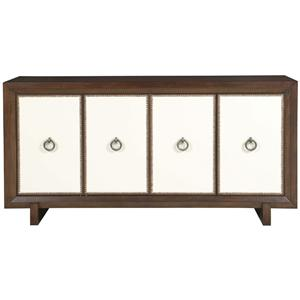Durston Road Contemporary Sideboard with Fabric Panels