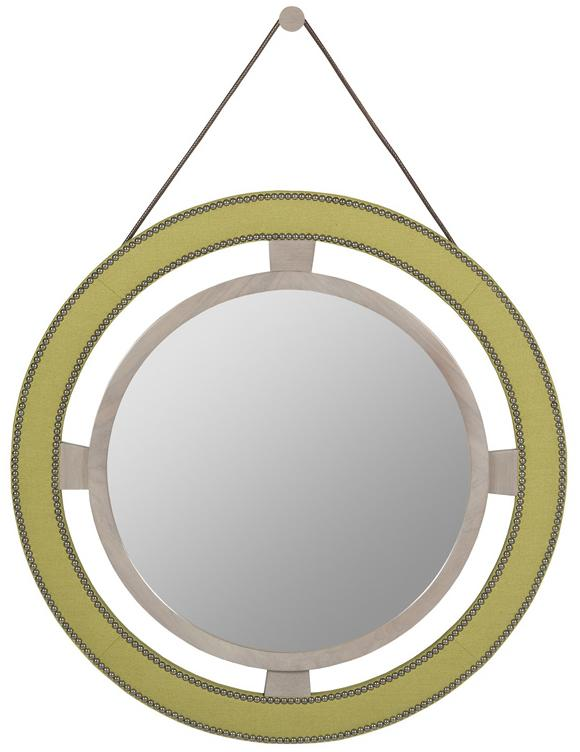 Thom Filicia Home Collection Round Mirror by Vanguard Furniture at Baer's Furniture