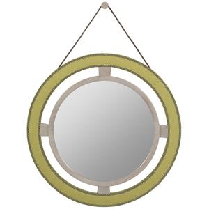 Round Upholstered Wall Mirror