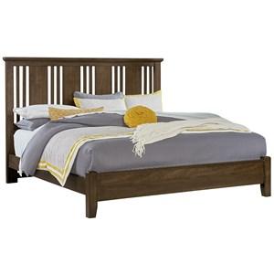 Solid Wood Cherry Queen Craftsman Bed
