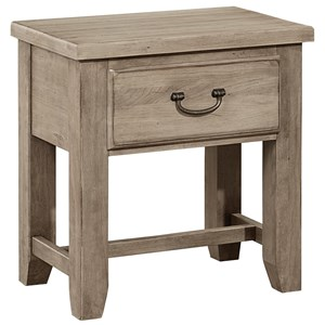 Solid Wood Cherry Night Table - 1 Drawer